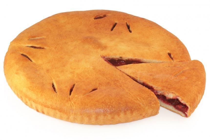 Пирог с вишней и шоколадом 1кг