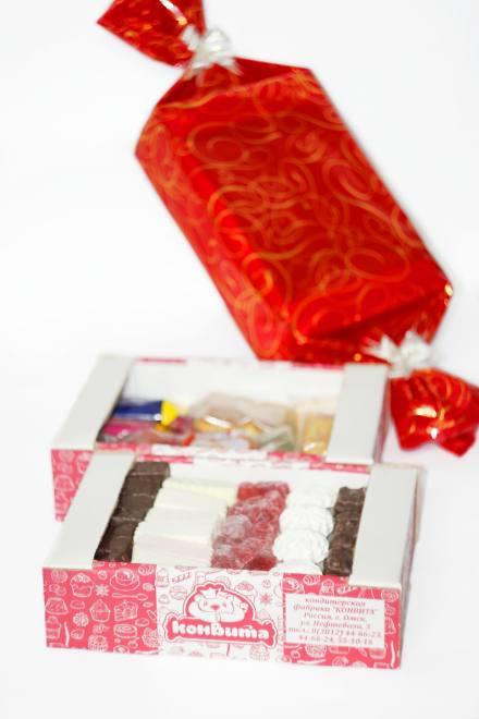 Новогодний подарок №2 TV 1,250 кг (конфета красная)