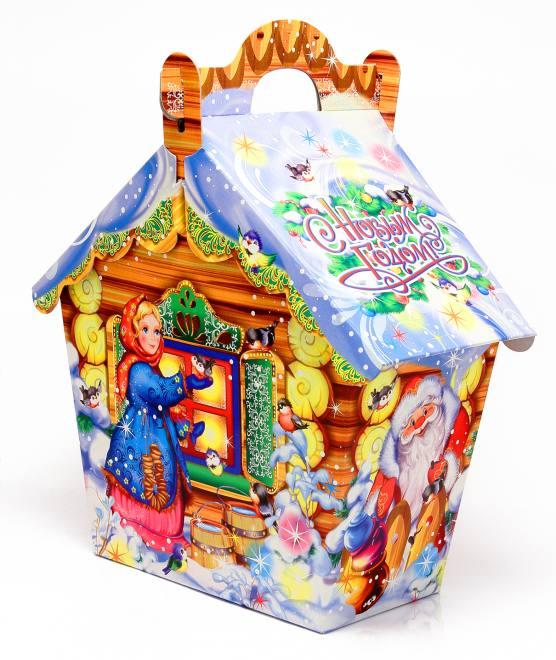 """Новогодний подарок """"Лесной домик"""" 0,500 кг"""