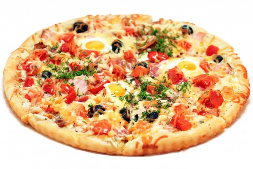 Пицца с перепелиным яйцом 0,600 кг