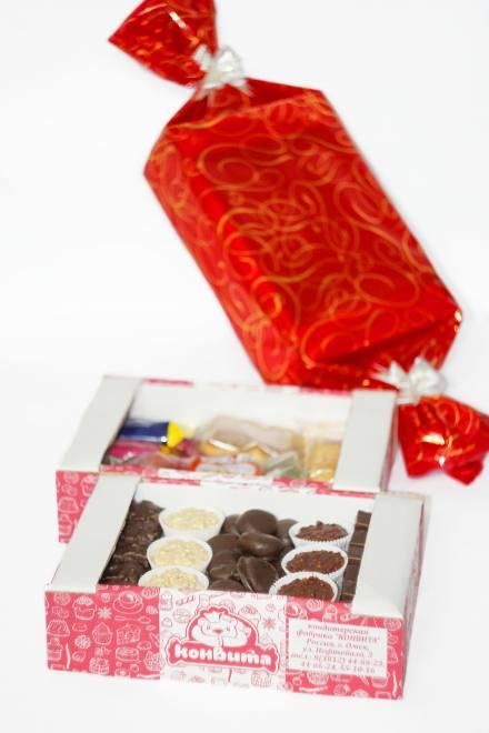 Новогодний подарок №3 TV 1,380 кг (конфета красная)